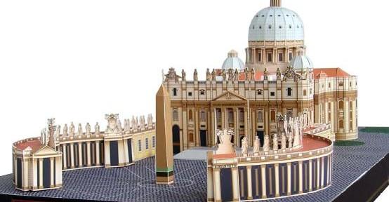 3D papirnata vatikanska bazilika