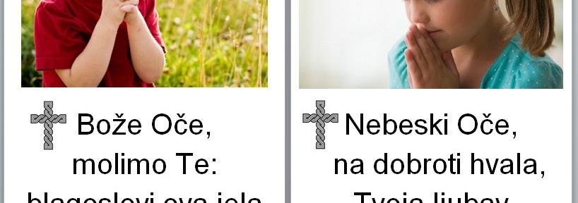 Molitve prije i poslije jela