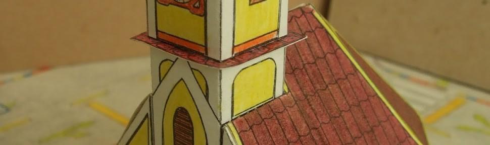 3D papirnata maketa crkvice