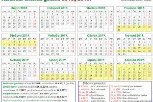 Kalendar školske godine 2018.-2019.