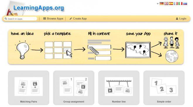 LearningApps – izrada raznih igara i pitalica